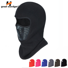 Winter Warmer Fleece Dust-proof Cycling Face Mask Balaclava Windproof Bike Full Face Scarf Mask Neck Bicycle Snowboard Ski Men цена