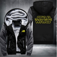 Unisex Winter Verdicken Jacke Sweatshirts Star Wars Cosplay Mantel Reißverschluss Hoodie Fleece