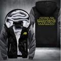 Unisex Invierno Espesar Sudaderas Chaqueta de Star Wars Cosplay Chaqueta Con Cremallera Con Capucha Fleece