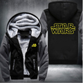 Unisex Winter Thicken Jacket Sweatshirts Star Wars Cosplay Coat Zipper Hoodie Fleece