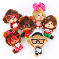 Nuevo pequeño lindo de dibujos animados monchhichi muñeca de la felpa de kawaii kiki colgante bolsa de accesorios par toy niños niños niñas regalos de cumpleaños