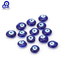 Lucky Eye 16/20mm Blue Beads Glass Evil Eye Lampwork Beads For Bracelet Necklace DIY Jewelry Making EY1388