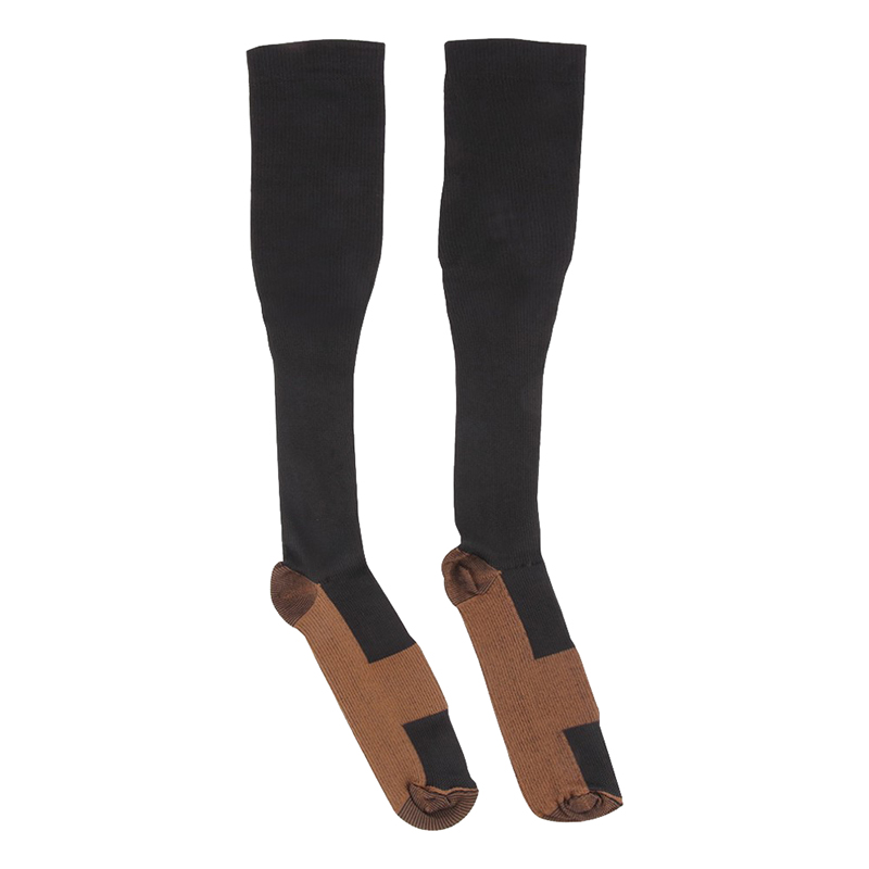Anti-Fatigue Miracle Copper Unisex Foot Under Wear Compression Foot Pain Relief Anti Fatigue Sock Knee High Stocking AC0189