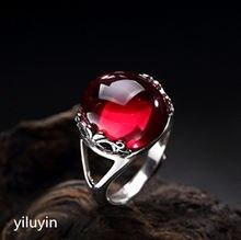 59d6297b1b46 KJJEAXCMY boutique joyería S925 incrustaciones de plata con cristal natural  polvo plum blossom