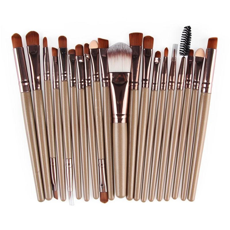 20pcs Eyes Brushes Set Eyeshadow Eyebrow Eyelashes Eyeliner Lip Makeup Brush Sponge Smudge Brush Cosmetic pincel maquiagem (5)