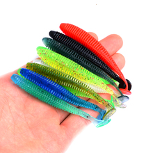 цена на 10Pcs/Lot 8.5cm Soft Fishing Lures Isca Artificial Grub Single T-tail Plastic Silicone Baits Para Pesca Leurre Souple De Peche