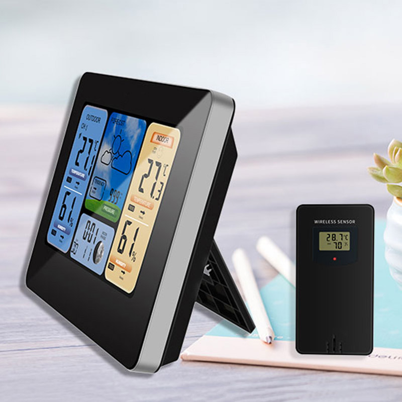 Color Weather Station Forecaster with Temperature Humidity WIFI APP Smart Weather Station LXY9 image