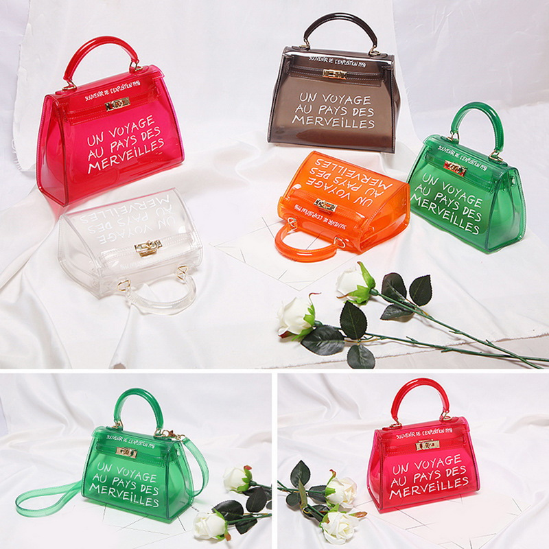 magasin en ligne 7749c 0267b SHUJIN Clear Transparent PVC Shoulder Bags Candy Color Women Jelly Bags  Purse Solid Color Handbags Large Capacity Crossbody #315137 Womens Handbags  ...