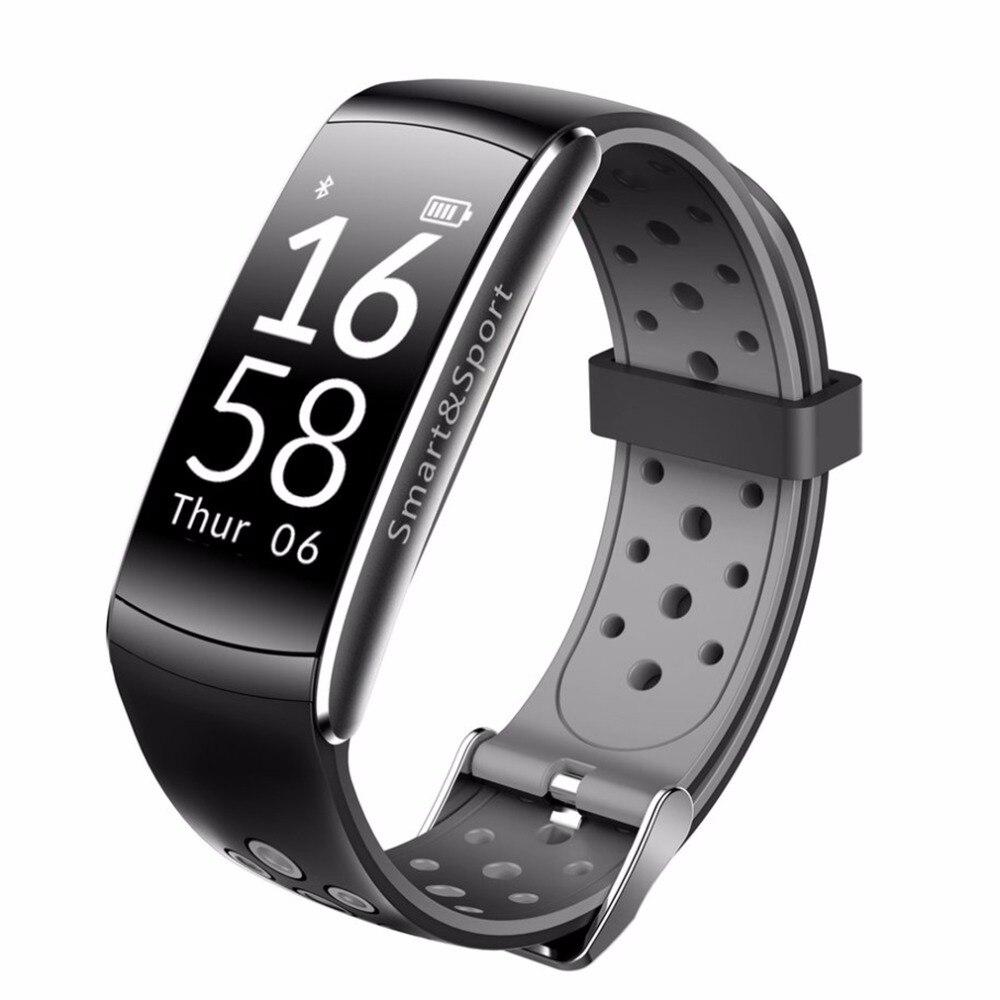 NOUVEAU Q8 Smart Bracelet Bluetooth IP68 En Temps Réel Coeur Taux moniteur Q8 Smart Bracelet Bande Fitness Tracker pour Android iOS téléphone