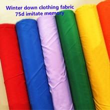 Tissu pour veste d'hiver en polyester, 100x148cm, 75d, textile imitant la mémoire