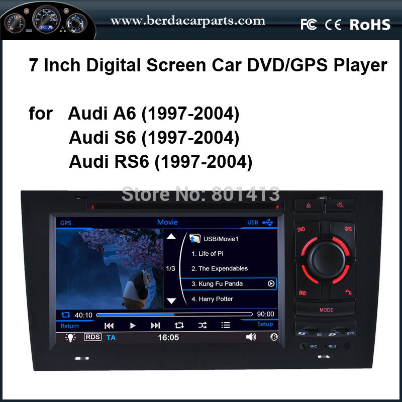 Car DVD/GPS player for Audi A6 (1997 2004)