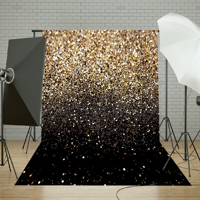 Freya 50x210cm Vinyl Party Glitter Black Gold Dot Fotografia Photo Studio Backdrop Photography Background 5x7ft For Studio Photo capisco super city photography backdrop theme building studio super hero photo background prop for photography party