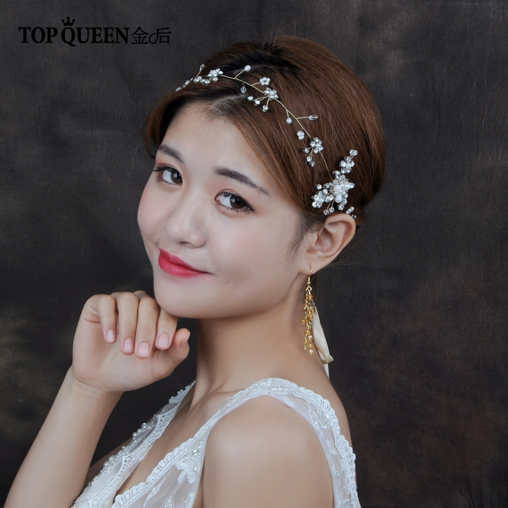 TOPQUEEN HP19 Wedding Tiara Wedding Headband Wedding Headwear Bride Hair Jewelry Wedding Hair Accessories Bridal Hairband