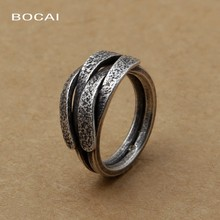 Wholesale fashion jewelry handmade silver Thailand hemp male ring opening simple preparation of MS.