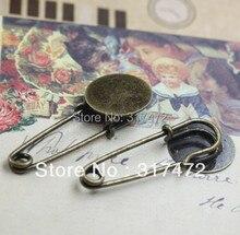 Free shipping  15mm Basic Round Brooch Pin Lagenlook Kilt Pin Brooch