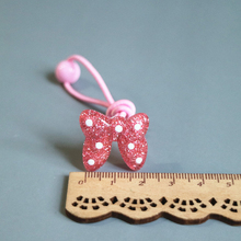 New 4 Pieces /  Girl Rubber Band Girls Hair Accessories Childrens Resin Rope Cute Bow And Hairpin Set