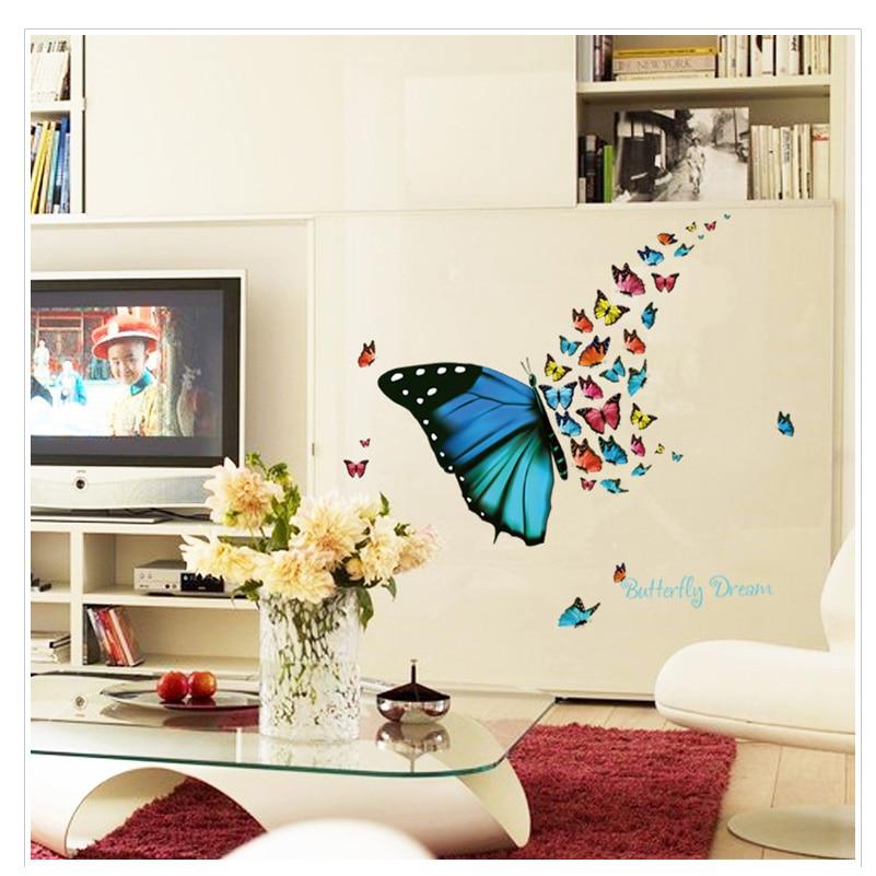 Aliexpress.com : Buy Wall Decor Mural Butterfly Wall