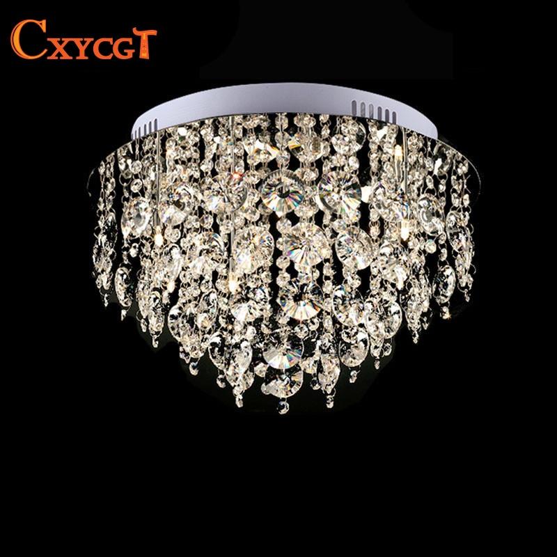 Circular Vanity Lustre Led k9 Crystal Chandelier Light Fixture Home Lighting Kitchen Dining Room Lamp Crystal Pending