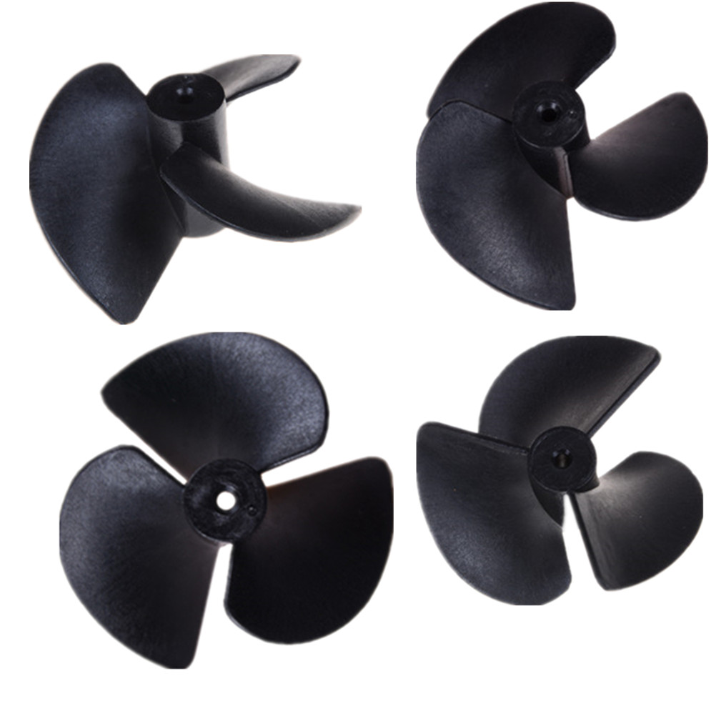 1pcs New 1.9mm(tight with 2mm shaft) 3-blades propellers three blades Nylon paddle for RC boat Positive & Reverse D 40mm image