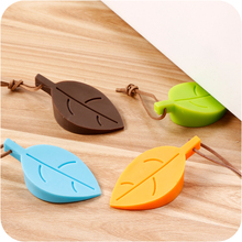 Hot Silicone Rubber Door Stopper Cute Cartoon Autumn Leaf Style Home Decor Finger Safety Protection Kid Baby Safe Prevent Wind