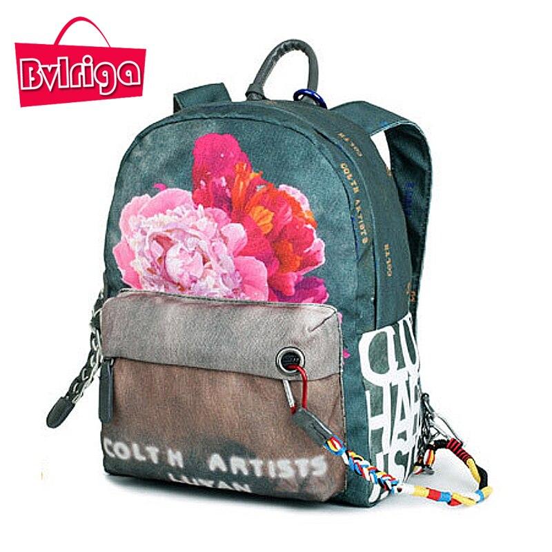ФОТО BVLRIGA Women Backpack Floral Printing Travel Back Pack School Bags Backpacks For Teenage Girls School Bag Designer Backpack