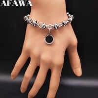 2019 bracelet à breloques rond en acier inoxydable pour femmes couleur argent Bracelets bijoux bracelet acier inoxydable femme B18144
