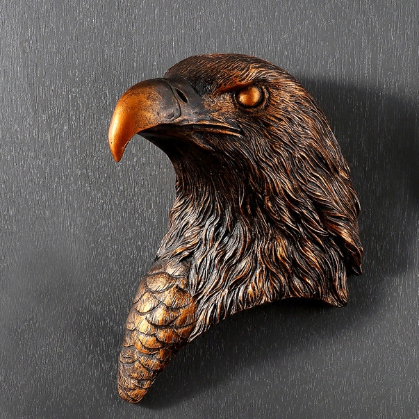 eagle creative mural wall hanging style pendant name wall modern office sculptures animal head Home living room decoration