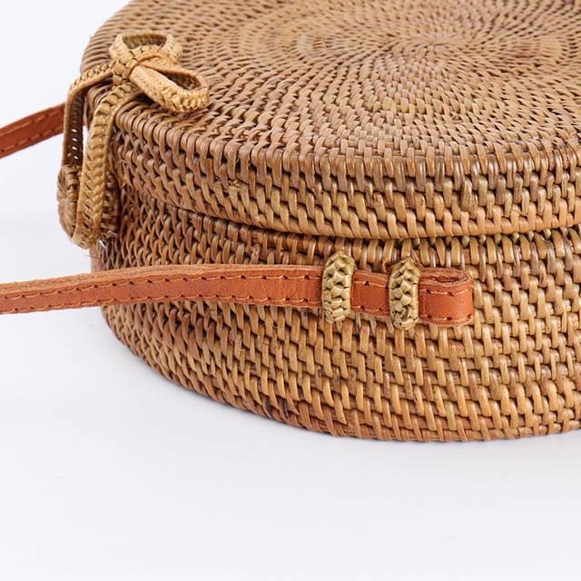 Online Shop Arpimala 2018 Bali Circle Straw Bags For Women Handmade
