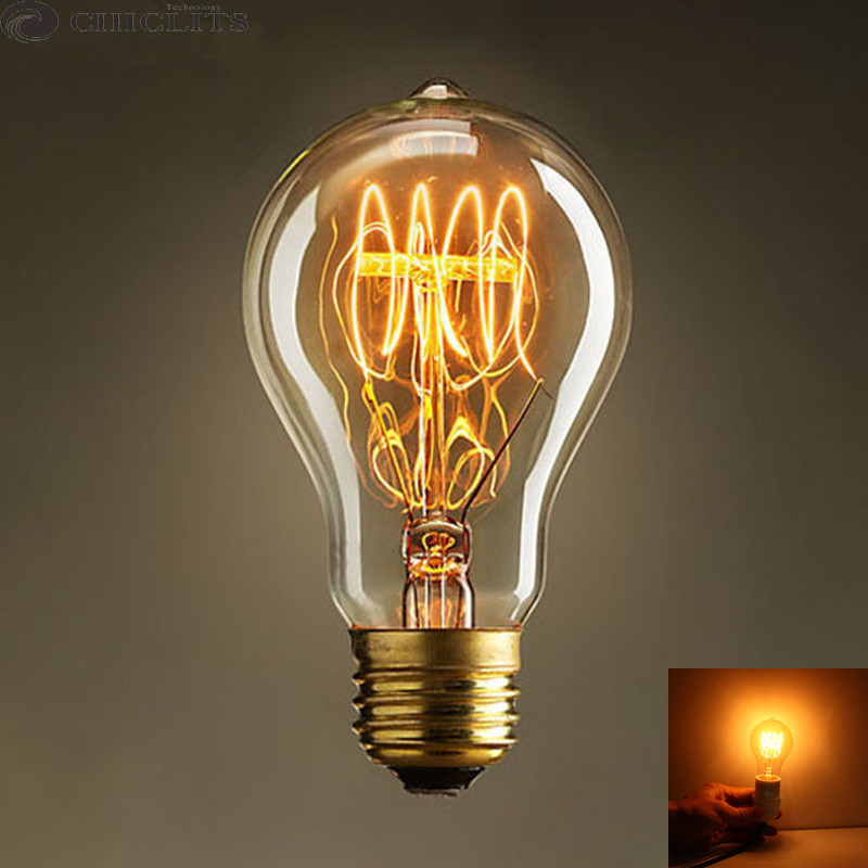 Incandescent Christmas Lights.Us 3 34 31 Off Christmas Lights Vintage Retro Edison Filament Light Bulb Lamp E27 40w 220v Incandescent Antique Bulb Warm Yellow Lampes Ampoule In