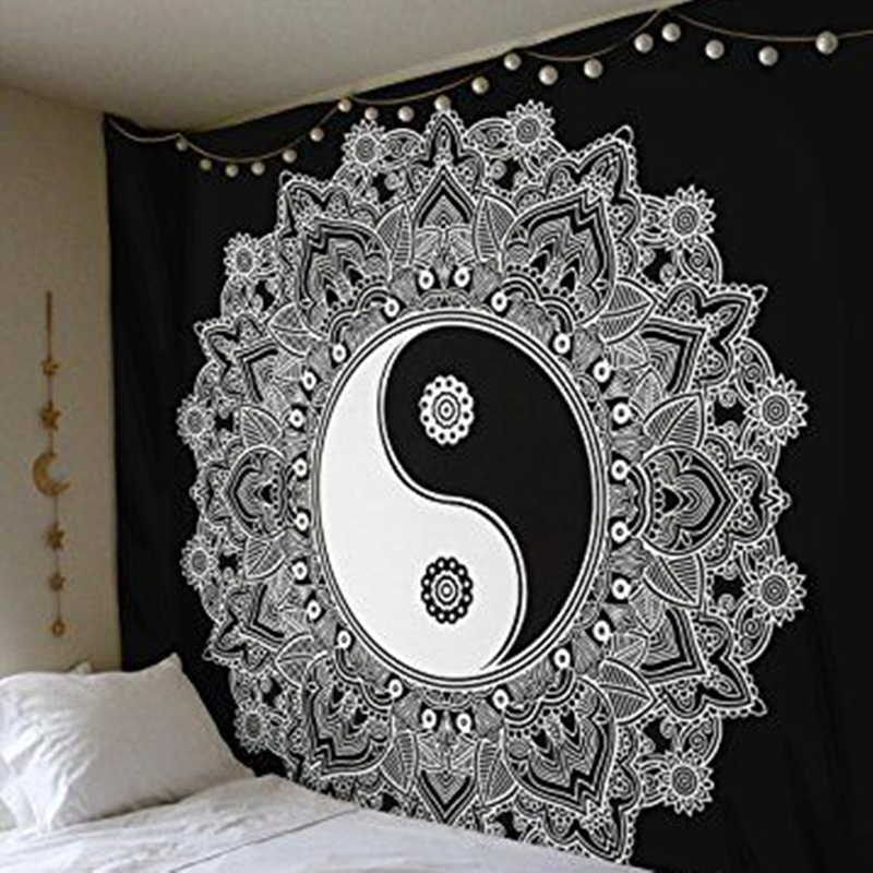 Cilected Black And White Wall Cloth Tapestries Feather