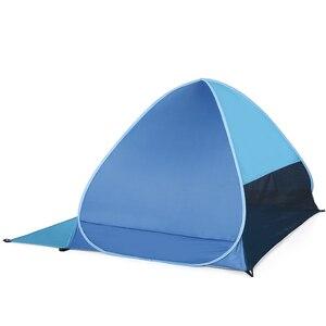 Image 3 - Lixada tenda de praia automática instantânea, leve, proteção uv para área externa, acampamento, pesca, cabana, abrigo do sol