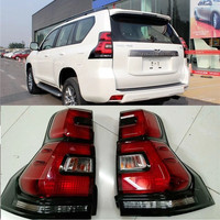 LED TAIL LAMP REAR LIGHTING PARKING BRAKE DAY LIGHTS FIT FOR TOYOTA PRADO 2018 EXTERIOR AUTO ACCESSORIES SUV REAR LIGHTING