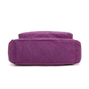 Image 5 - Женская Высококачественная нейлоновая сумка, повседневная большая сумка на плечо, модная вместительная сумка, брендовая дизайнерская Водонепроницаемая большая сумка L81