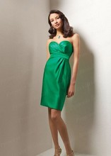 Free Shipping Sexy Short Sheath Sweetheart Knee Length Green Western Bridesmaid Dresses BD019