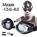 Плавательные очки для близорукости профессиональные анти-противотуманные УФ очки для плавания мужские и женские силиконовые диоптрии для ...