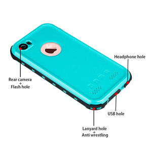 Image 4 - For iPhone 7 plus Waterproof Case Ultra Slim Thin life water Dust Shock proof Case Full Body Protective Cover for iPhone7 7plus