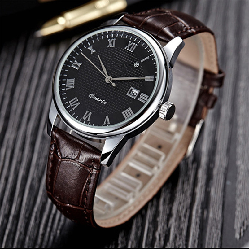 OTOKY 1 Pair Watches Leather Quartz Date 1PC Men Watch+ 1PC Women Watch For Couple Minimalistic Drop Shipping 71219