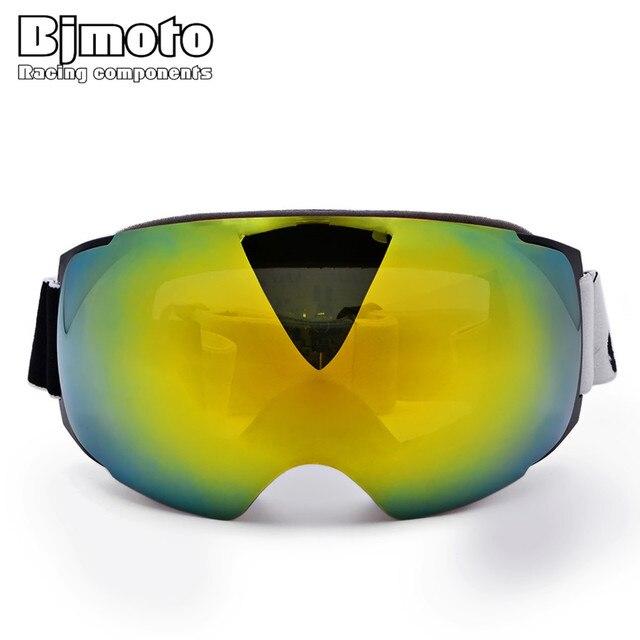 80209a0906 2017 Magnet Ski Goggles New BJMOTO Double Layers UV400 Anti-fog Big Ski  Mask Glasses