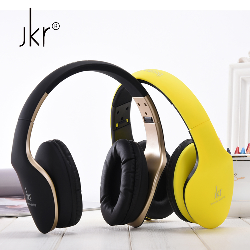 JKR Stereo Big Casque Audio Wired Gaming Earphones For Phone Computer Headset Headphones With Microphone Hifi Head Auriculares 2017 hot sale jkr 215b jkr hifi auricular big casque cordless wireless blutooth headphone bluetooth earphone for phone computer