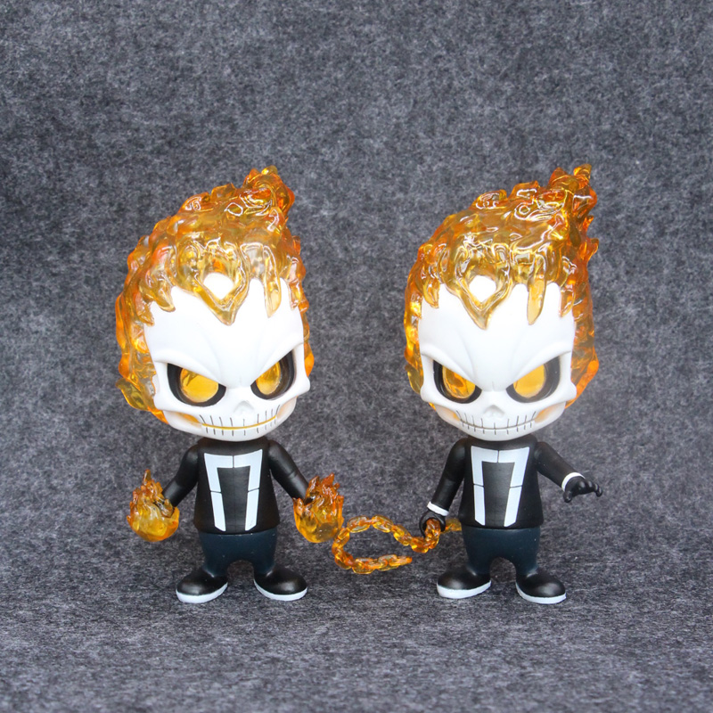 2 Style Marvel Cute Ghost Rider 10cm PVC Figure Model Toys