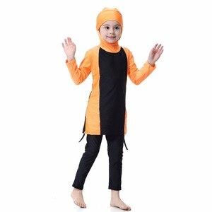 Image 4 - YONGSEN Islamic Muslim Swimwear 2020 Girl Hijab Maillot de bain Burkinis Modest Plus Size Brand Swimsuit Long Sleeve Bathing