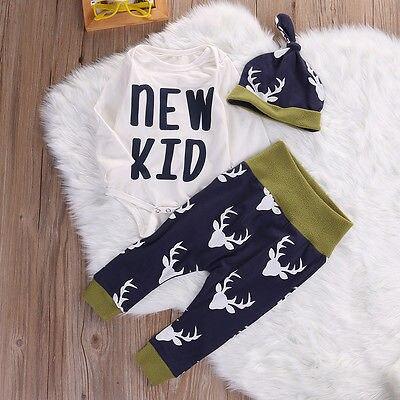 Милые детские для маленьких мальчиков Обувь для девочек Олень боди цилиндре трусов Детские Рождественские наряды комплект Костюмы
