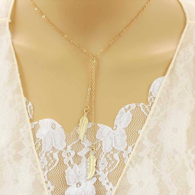 En gros nouveau Vintage nouvelle feuille chandail chaîne collier Long colliers déclaration bijoux pour les femmes