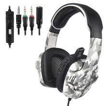 SADES SA-708GT Gaming Headphones with mic 3.5mm Noise Cancellation camouflage Stereo Sound Music gaming Headset PS4/PC/Laptop