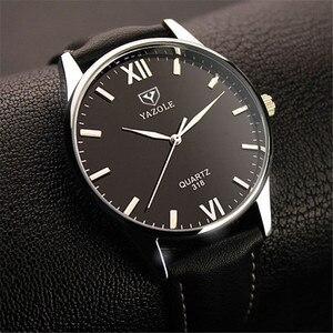 Top marka zegarek kwarcowy YAZOLE mężczyźni Ceasuri luksusowy sławny zegarek na rękę mężczyzna zegar Wrist Watch Hodinky kwarcowy-zegarek Relogio Masculino