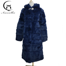 Low-priced clearance sale real Rex rabbit fur coat