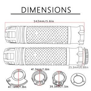 """Image 5 - Livraison gratuite 7/8 """"22 MM moto CNC poignées poignées moto guidon extrémités pour Ducati M900 Monster Dark M900 monstre métallique"""