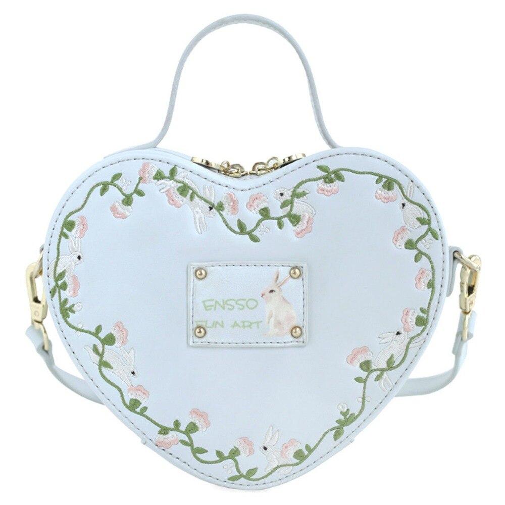Conception japonaise femmes Gril Lolita coeur forme sac sac à main sac à bandoulière Sweety cadeau