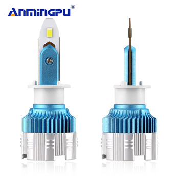 Anmingpu 2x Mi2 50W 8000LM Led H1 Headlight Bulbs H4 H7 H1 LED 6000K Car Light H3 9005/HB3 9006/HB4 H8 H11 Auto Headlamp Kits