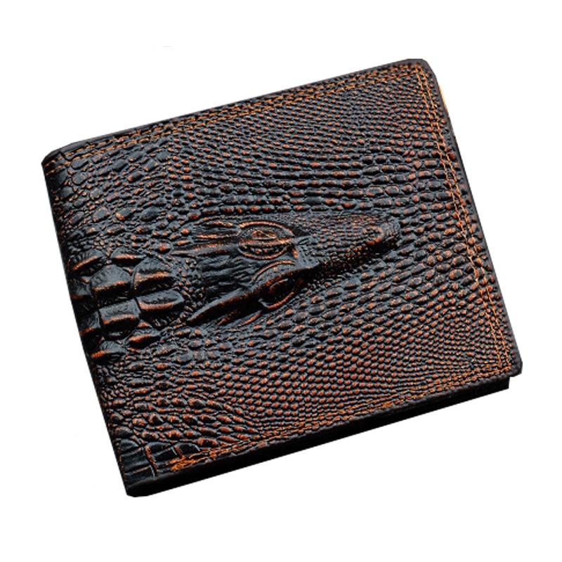 Wallet Male Pu Leather Men Purse Business Wallet Luxury Designer Crocodile Clip Cash Pocket Photo Dollar Coin Price Bag men genuine leather wallet 2016 dollar price luxury famous designer high quality money clip men wallet
